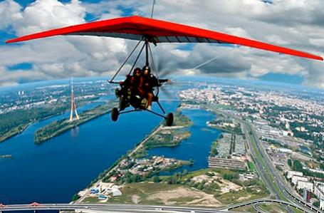фото полет на дельтаплане